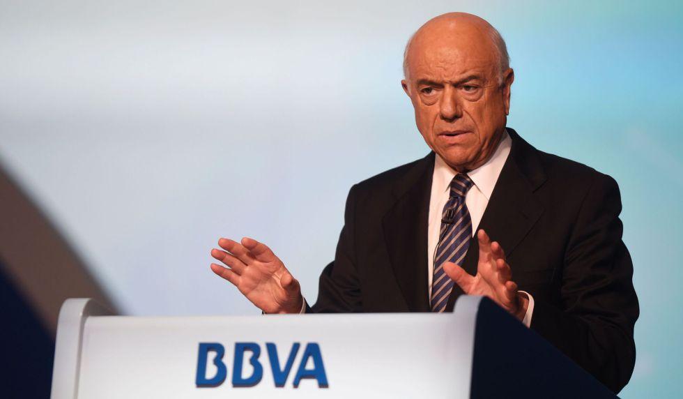 El presidente del BBVA, Francisco González, en Bilbao el 11 de marzo de 2016.