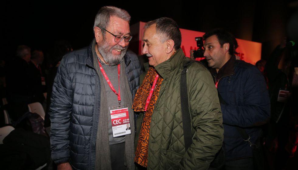 Cándido Méndez conversa con Josep María Álvarez