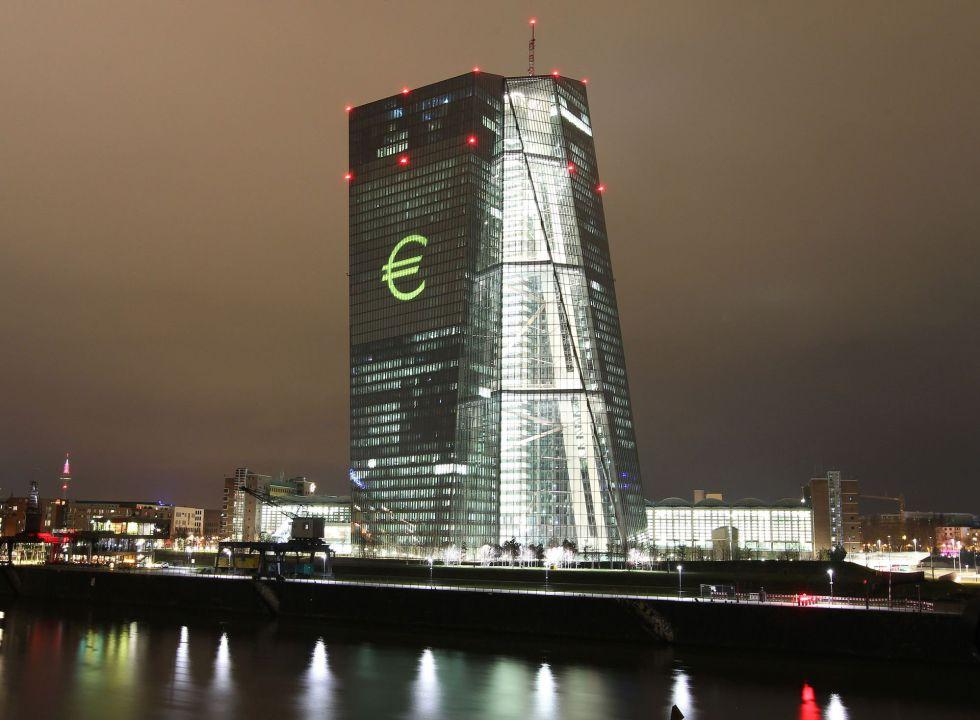 Vista de la sede del BCE, el sábado en Fráncfort.