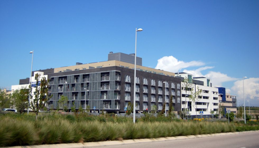 Viviendas de nueva construcción en Valdebebas (Madrid).