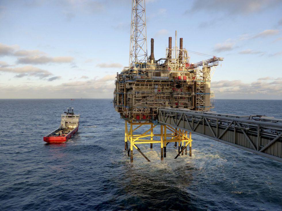 Plataforma de procesamiento de gas y petróleo de Statoil en Stavanger (Noruega).