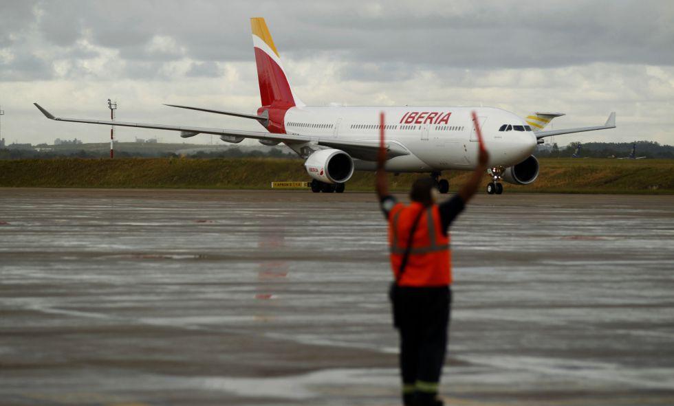 El nuevo avión Airbus A330200 de Iberia, el 7 de marzo de 2015.