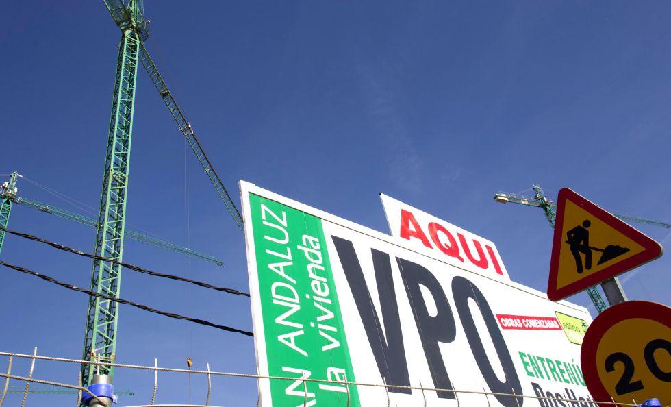 Construccion de viviendas protegidas (VPO) en la localidad sevillana de Dos Hermana.