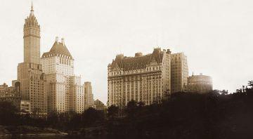 A la derecha, el Hotel Plaza, en una imagen principios del Siglo XX. El establecimeinto fue fundado en 1907