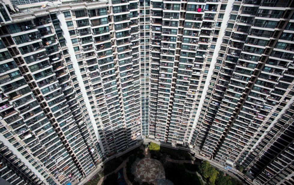Varios edificios de viviendas residenciales en Shanghái