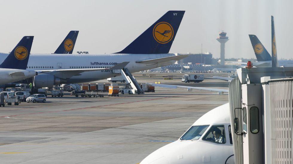 Aviones de la aerolínea Lufthansa