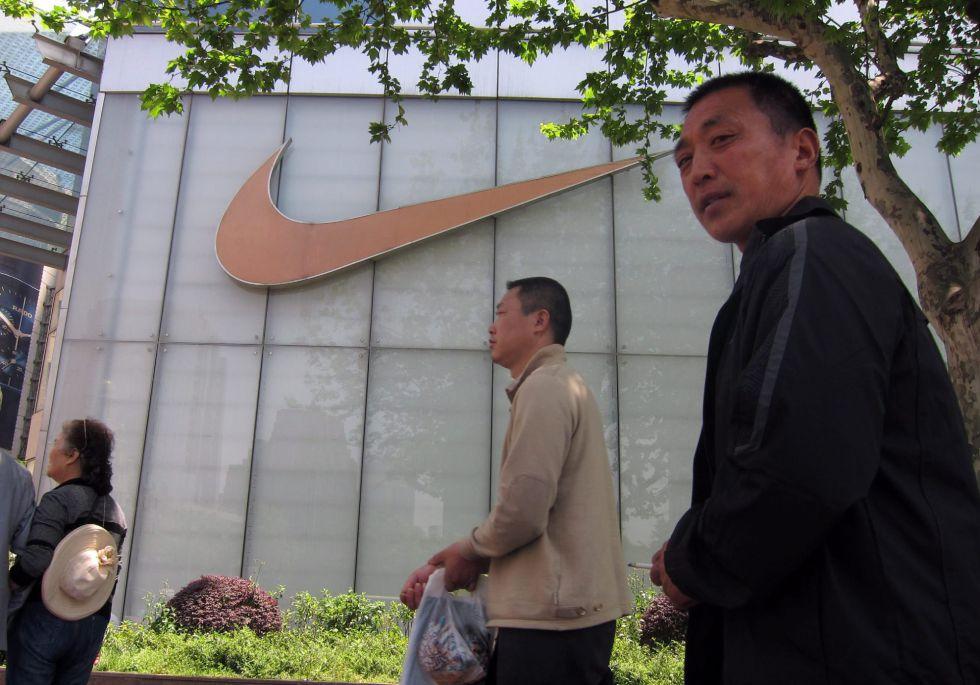 Una tienda de Nike en China