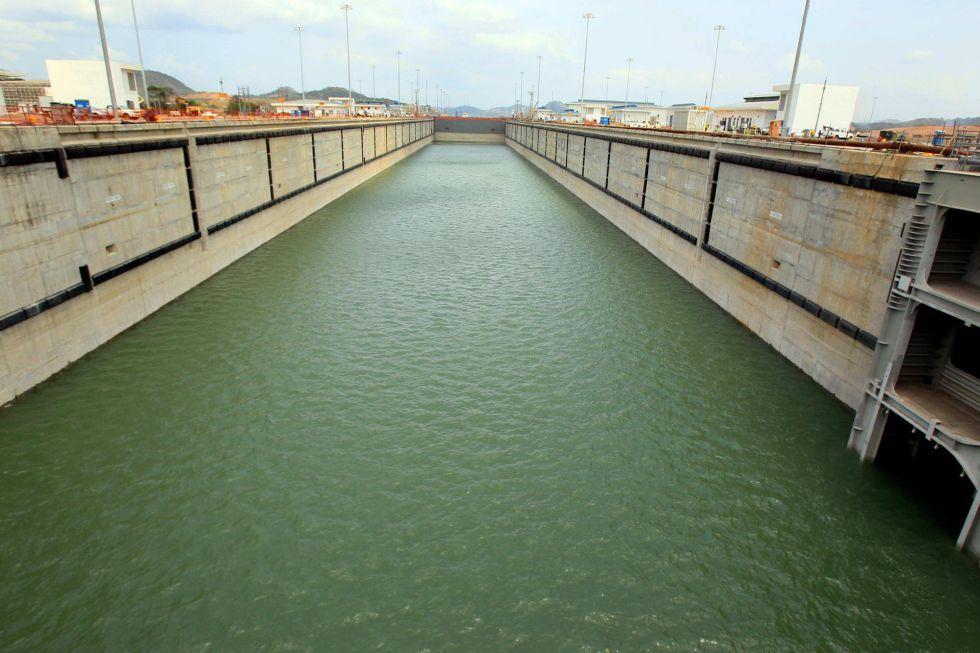 Una de las nuevas esclusas de la ampliación del Canal de Panamá el pasado 21 de marzo de 2016