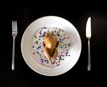 Un pollo asado