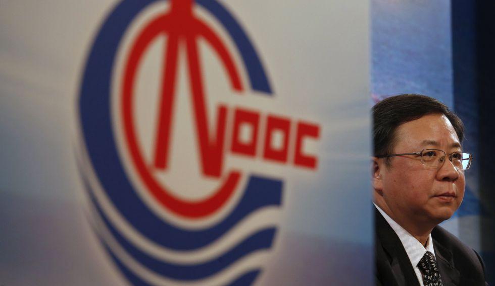 El presidente de CNOOC, Yang Hua, en Hong Kong el 24 de marzo de 2016.