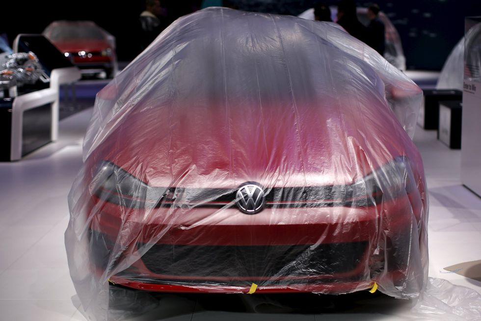 Un modelo de la marca Volkswagen en el Salón de Nueva York