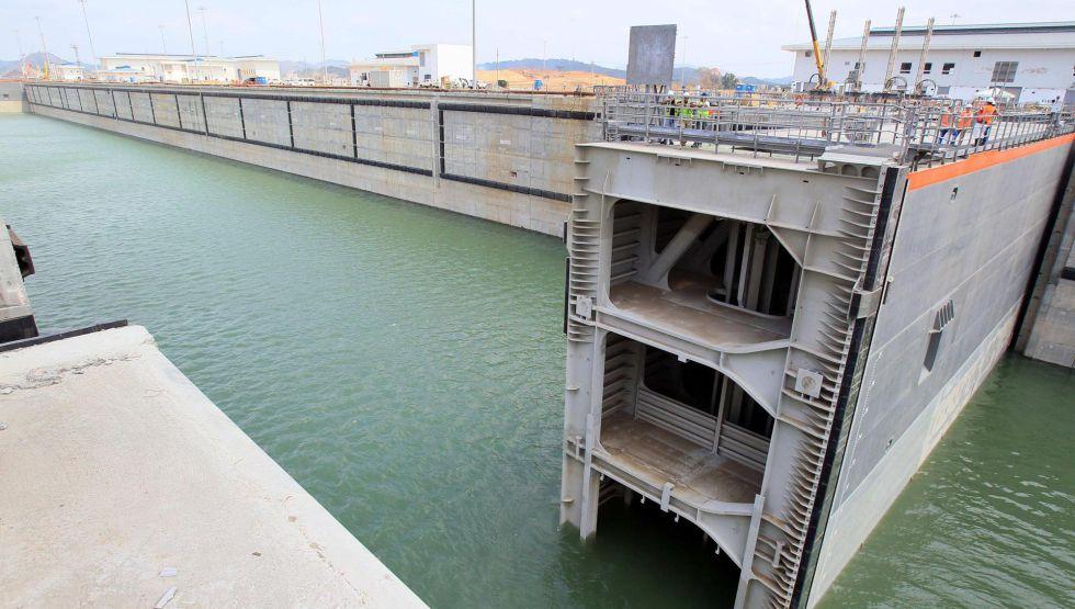 Una esclusa parte del proyecto de ampliación del Canal de Panamá.