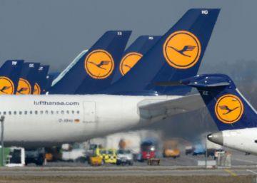 Lufthansa cancela 900 vuelos por huelga del personal de tierra