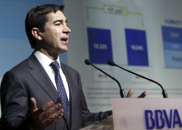 Los beneficios del BBVA bajan un 53% en el primer trimestre