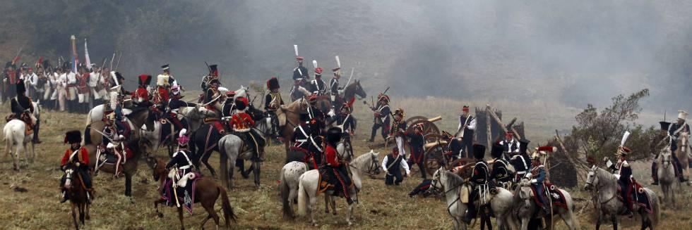 Recreación de la Batalla de Somosierra de 1808 durante la Guerra de Independencia.