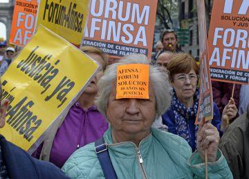 Miles de afectados de Fórum y Afinsa exigen una solución