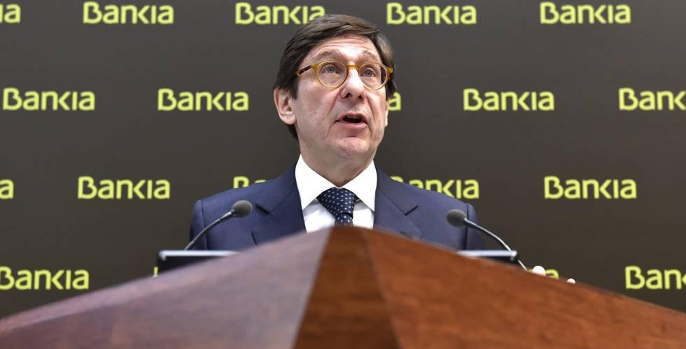 José Ignacio Goirigolzarri, presidente de Bankia en la presentación de resultados de 2015.