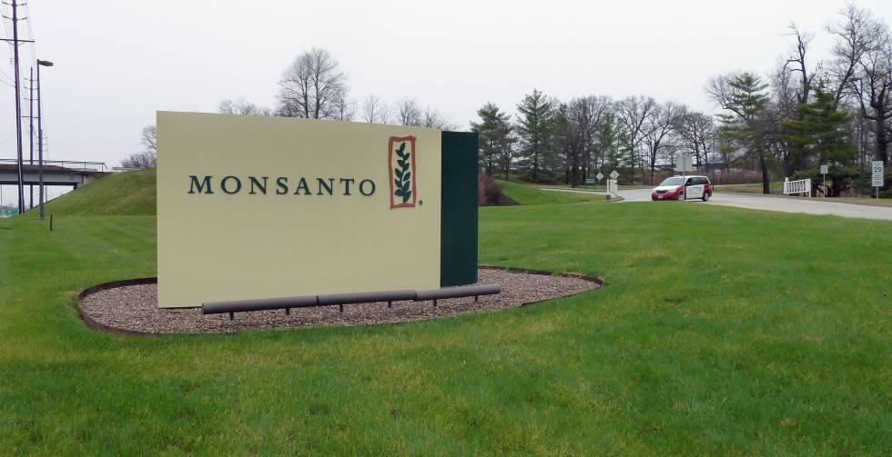 Entrada de la sede de Monsanto en Creve Coeur (Estados Unidos).