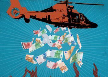 Tipos de interés negativos del BCE y el 'helicopter money'