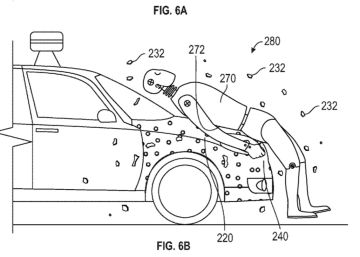 Google patenta un capó adhesivo para los atropellos del coche autónomo