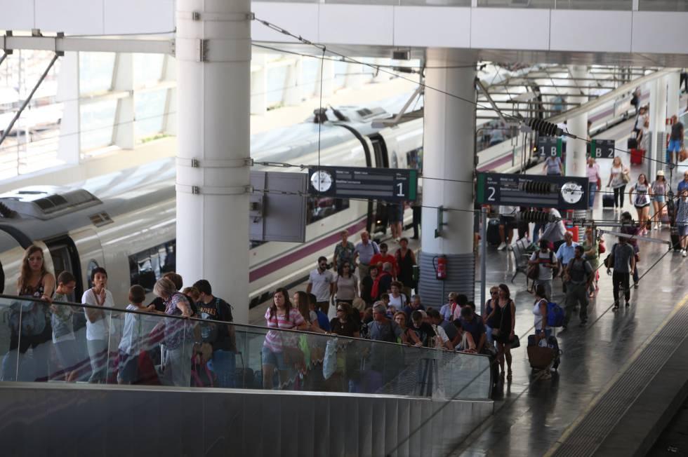 La estación de Atocha de Madrid