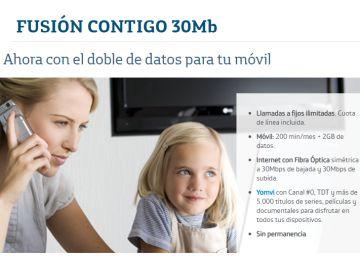 Telefónica regalará una línea de móvil a los clientes de Fusión