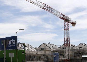 Viviendas en construcción en Valdebebas, Madrid