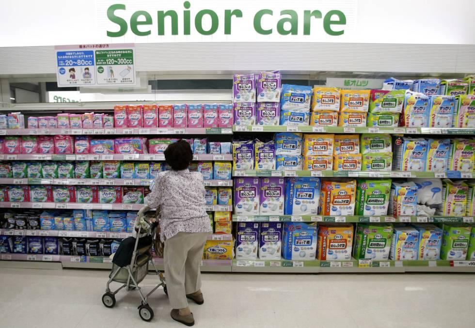 Departamento de productos para adultos en un supermercado