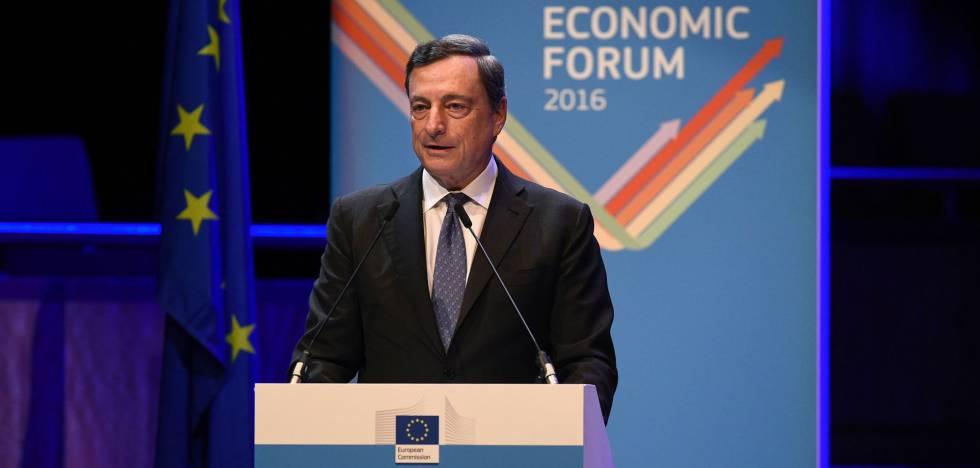 Mario Draghi en el Foro Económico de Bruselas