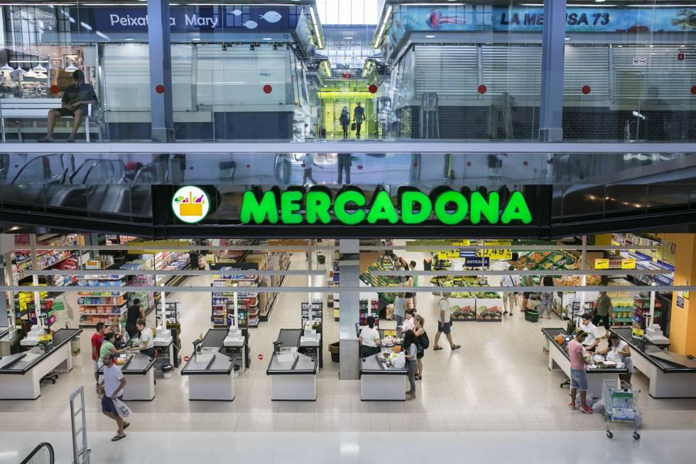 Un supermercado de Mercadona en Barcelona