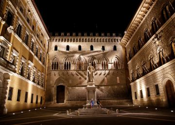 La sede del Monte dei Paschi en Siena (Italia).