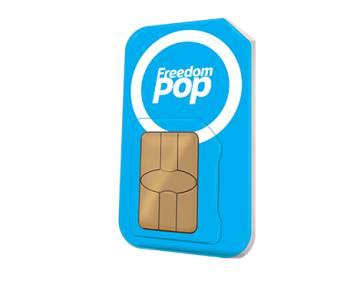 Tarjeta SIM de FreedomPop.