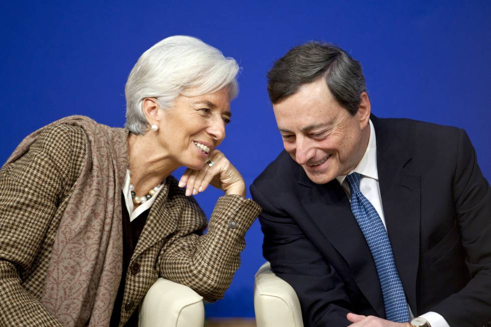 Christine Lagarde y Mario Draghi