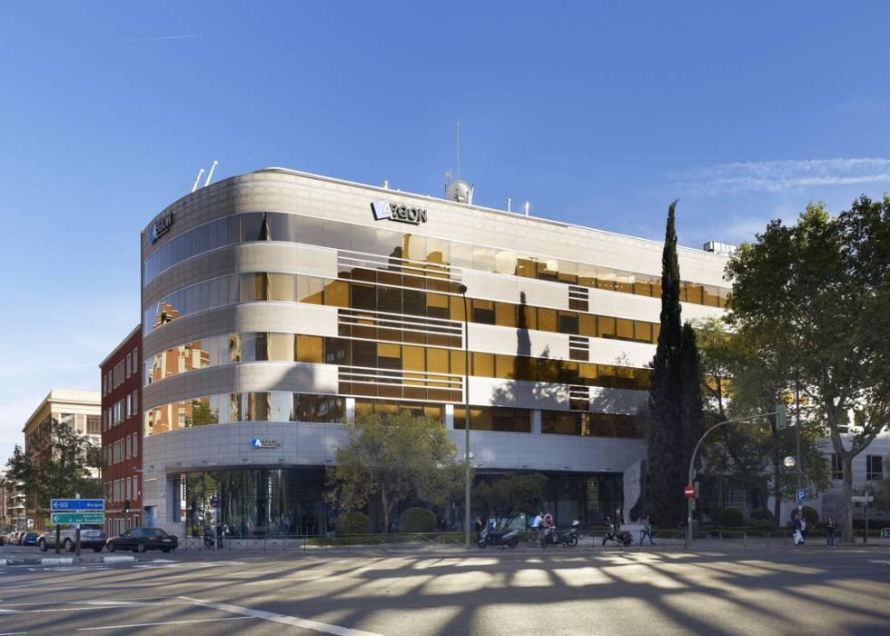 Oficinas centrales de Aegón Seguros, en Madrid.