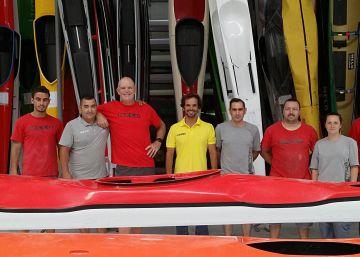Piraguas portuguesas para campeones olímpicos