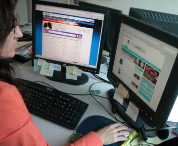 Una usuaria de Internet.