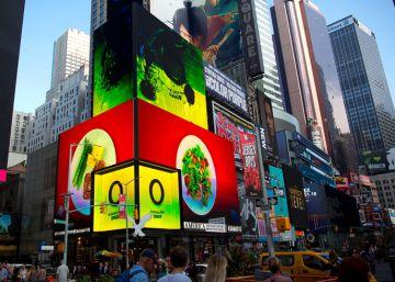 El aceite de oliva ilumina Times Square