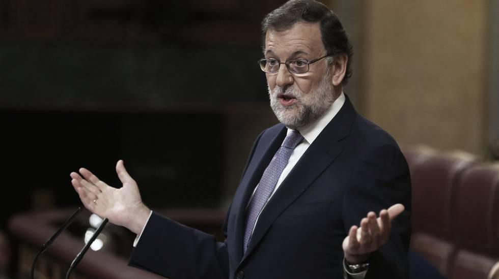 Mariano Rajoy, durante el debate de investidura.