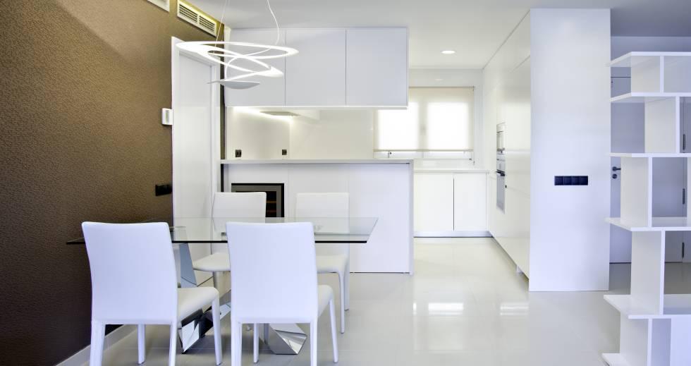 La cocina y el salón se integran en un único espacio.