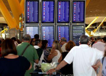 El tráfico de pasajeros en los aeropuertos sube el 7,6% en agosto