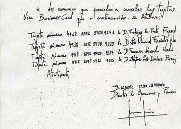Rodrigo Rato creó otras 'tarjetas black' y las canceló el día que llegó Goirigolzarri