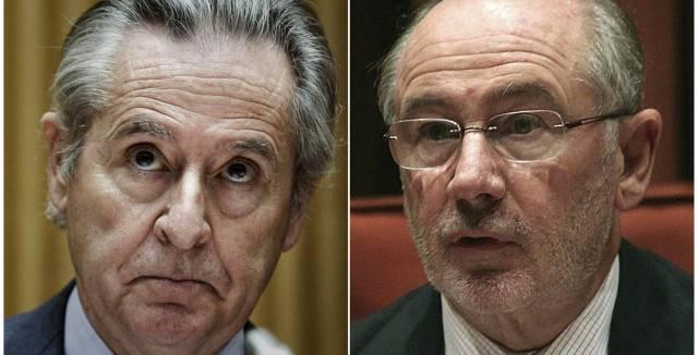 Combo de fotografías de archivo de los expresidentes de Caja Madrid Miguel Blesa (i) y Rodrigo Rato (d). EFEArchivo
