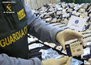 Medicamentos falsificados incautados en una operación de la Guardia Civil