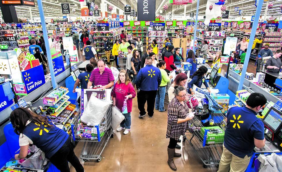 Supermercado Walmart en Arkansas. Esta es primera compañía del mundo.