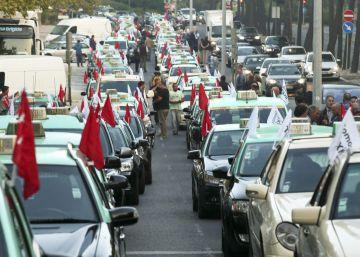 Los taxistas portugueses toman Lisboa para protestar contra Uber