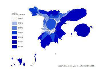 ¿Cómo sería España si el tamaño de sus provincias dependiera del turismo?