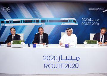 Alstom y Acciona firman el contrato del metro de Dubái por 2.600 millones