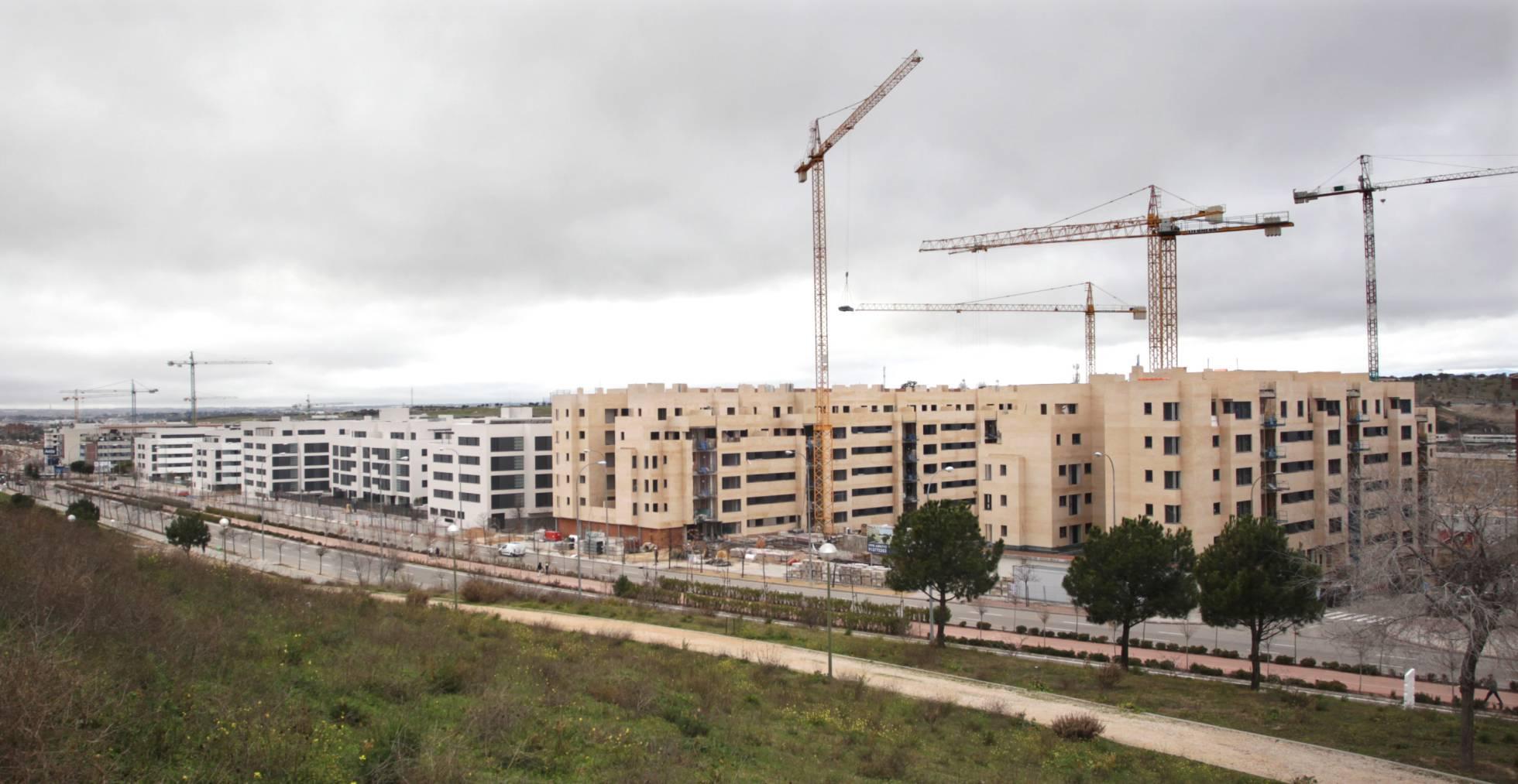 Las tasaciones de edificios en construcción suben más de un 50%