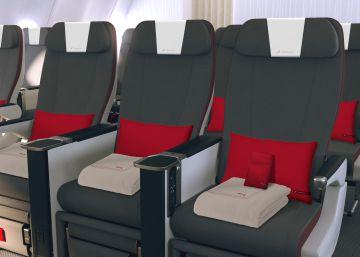 Iberia lanzará la clase 'turista premium', con asientos más anchos y enchufes