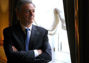 Francisco Cabrera, este lunes en la residencia del embajador argentino en Madrid.